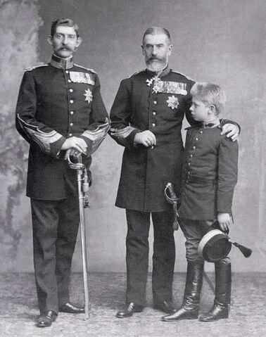 File:King Carol I of Romania with his nephew and great nephew.jpg