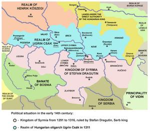 Stefan Dragutin and Ugrin Csak-13th-14th century