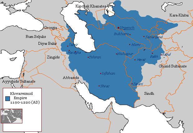 File:Khwarezmian Empire 1190 - 1220 (AD).PNG