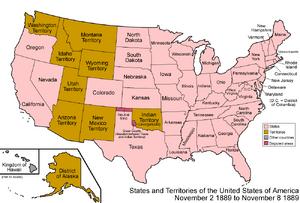 United States 1889-11-02-1889-11-08