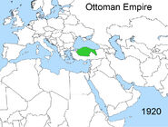 Territorial changes of the Ottoman Empire 1920