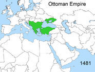 Territorial changes of the Ottoman Empire 1481