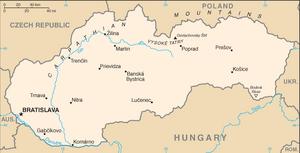 Slovakia-CIA WFB Map