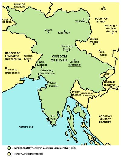 Kingdom of illyria-Austrian Empire-1822-1849