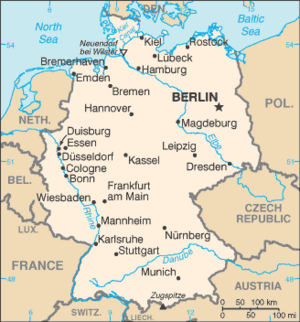 Germany-CIA WFB Map