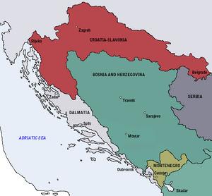 Kingdom of Croatia-Slavonia-1885