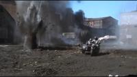 Battle Scenes under artillery fire