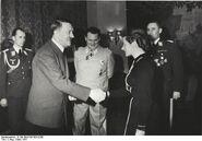 Below Hitler Goring Reitsch March 1941