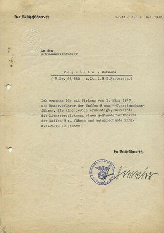 File:Signed By Heinrich Himmler Promoting Hermann Fegelein, 5-4-1940.jpg