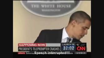 Hitler interrupts Obama speeches