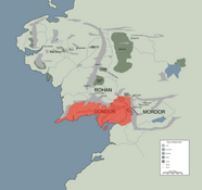 GONDOR location map in middle earth