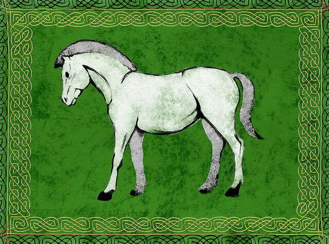 File:Cavallo bianco in campo verde.jpg