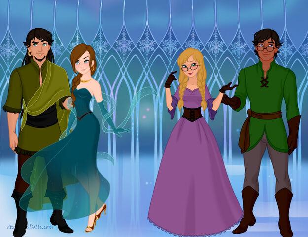 File:Snow-Queen-Scene-Maker-Azaleas-Dolls Cedric Fripple Aubretia Byron.jpg