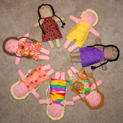 Circle of dolls