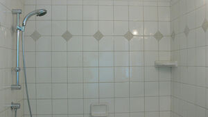 Panorama of our new shower