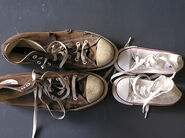 Dad have worn shoes, me- white