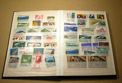 My stamp collection book opened
