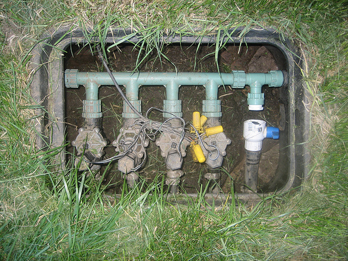 valves leading to underground pipes that provide separate sprinkler locations with water sprinkler system home wiki fandom powered by wikia. beautiful ideas. Home Design Ideas