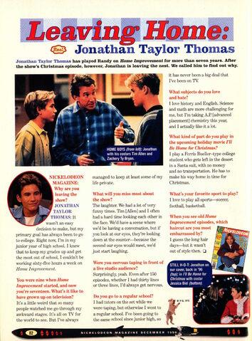 File:Jonathan Taylor Thomas interview Home Improvement Nickelodeon Magazine December 1998.jpg