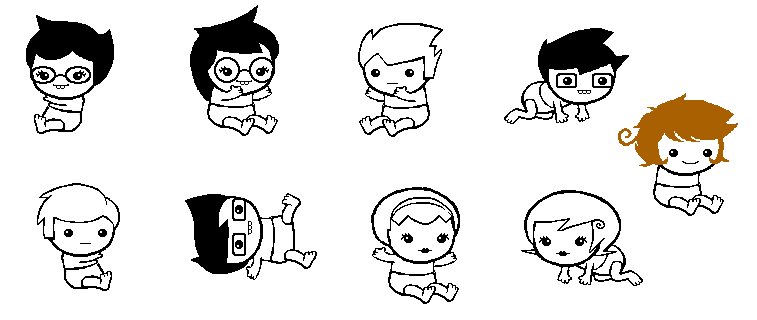 Homestuck babies by seinithil-d5737cy