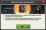 Mizz Blackheart research