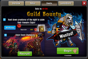 Event Guild Bounty window