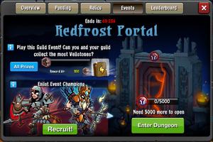 Event Redfrost Portal window