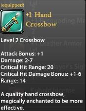 1 Hand Crossbow