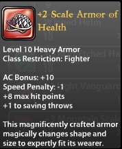 2 Scale Armor of Health