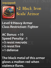 2 Black Iron Scale Armor