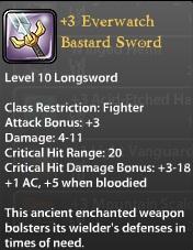 3 Everwatch Bastard Sword