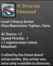1 Dwarven Chainmail