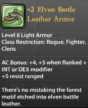 2 Elven Battle Leather Armor