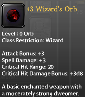 3 Wizard's Orb