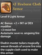 2 Fireburst Cloth Armor