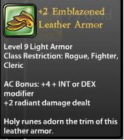 2 Emblazoned Leather Armor.