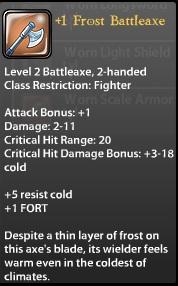 1 Frost Battleaxe