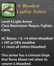 1 Bloodcut Leather Armor