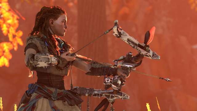 File:Aloy drawing her bow.png
