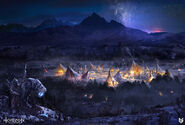 Lloyd-allan-banuk-village-night