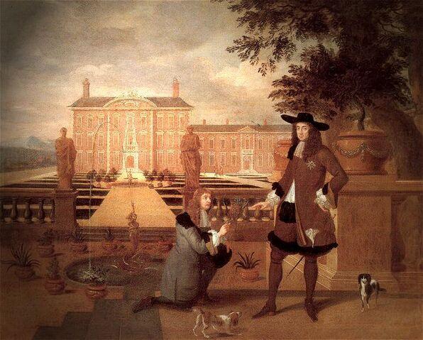 File:Royal Gardener John Rose and King Charles II - Hendrick Danckerts 1675.jpeg