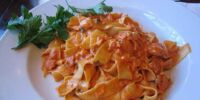 Fettucine with Sweet Pepper Cayenne Sauce by BusyMom123