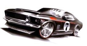 69 Ford Mustang Jun Art