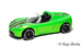 Tesla roadster green 2011