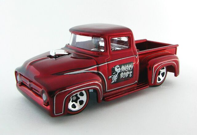 File:Custom '56 Ford Truck Red Side View.JPG