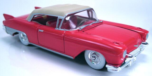 File:57 Cadillac Eldorado red cool collectibles 2002.JPG