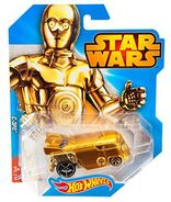 CGW45 HOT WHEELS STAR WARS C-3PO Character Car Hot Wheels Star Wars Character Car C3PO XXX 2