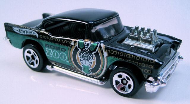 File:57 Chevy black 5sp Robo Zoo 5pack car 2003.JPG