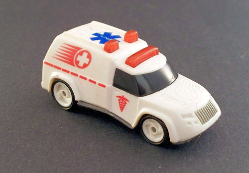 1994 Hot Wheels Ambulance-White