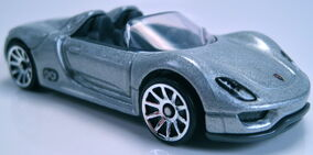 Porsche 918 spyder silver 2013 new model
